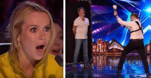 Simon Cowel sa stal súčasťou hádzania nožov v šou Británia má talent