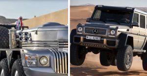 Mercedes G63 AMG 6×6 arabskému šejkovi nestačil a tak si nechal skonštruovať 10 kolesové monštrum