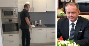 Andrej Kiska ukázal byt, v ktorom býva. Pred prezidenstskou vilou uprednostnil panelák
