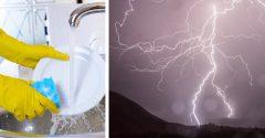 Umývanie riadu či sprchovanie počas búrky môžu spôsobiť veľké nebezpečenstvo. Treba si na to dávať pozor