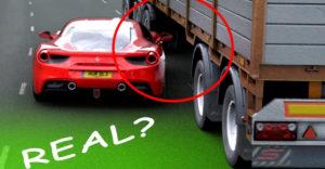 Video s Ferrari, ktoré prešlo popod nákladiak počas policajného prenasledovania, sa ukázalo ako falošné
