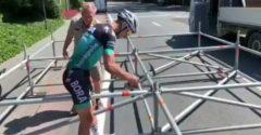 Peter Sagan vzal do rúk kladivo a pomohol organizátorom Tour de France stavať lešenie